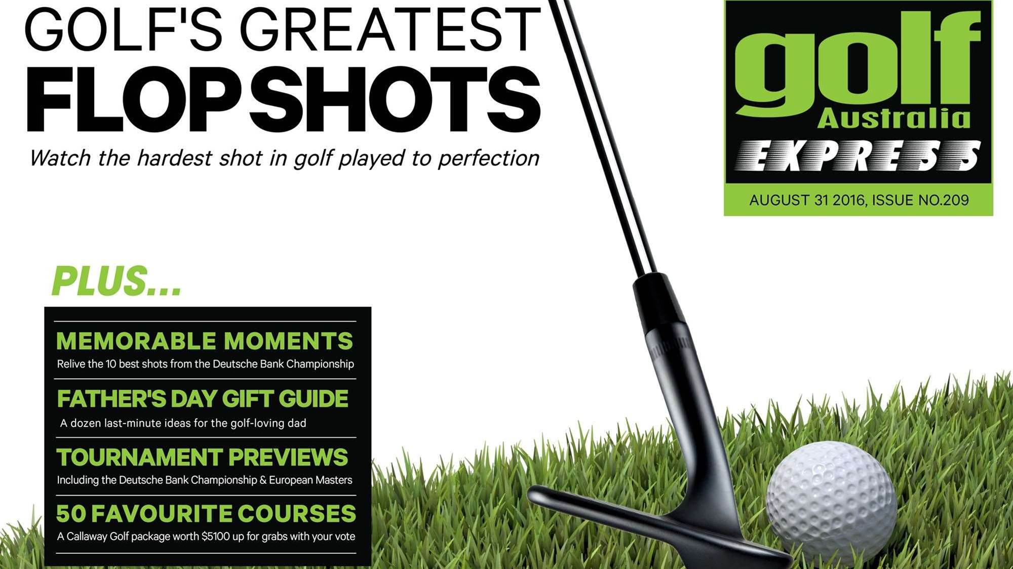 GA Express Issue 209: Golf's Greatest Flop Shots