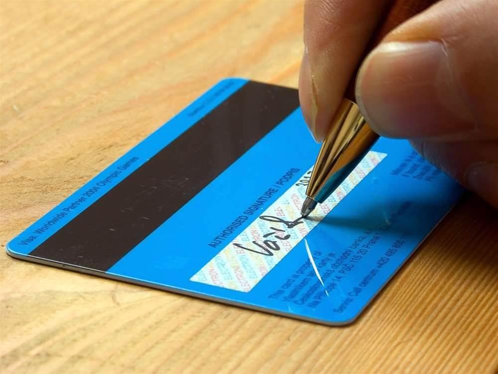Credit card companies dump card signatures