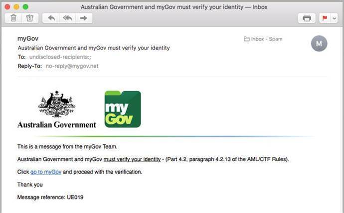 Phishing scam targets myGov accounts