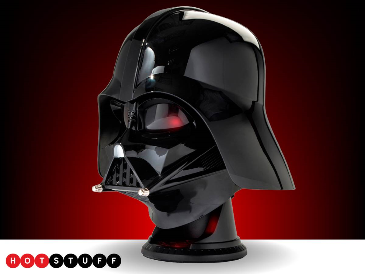 Sith Lord's helmet now bluetooth speaker, Imperial March mandatory