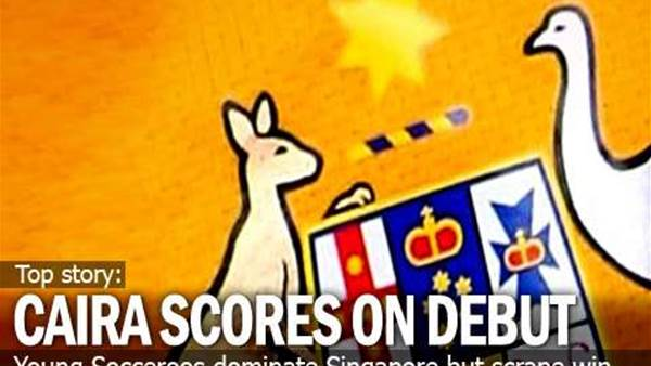 Reece Caira Scores On Young Roos Debut