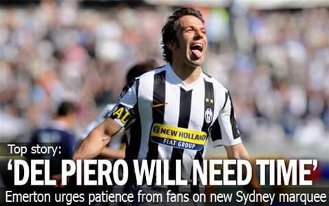Emerton Warns On Del Piero Expectations