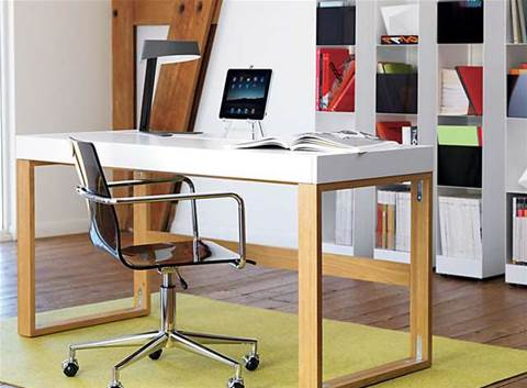 Home office: simple tuck-away desks