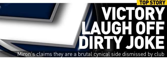 Victory Laugh Off Dirty Joke