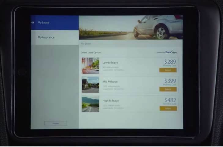 Visa, DocuSign prototype connected rent-a-car