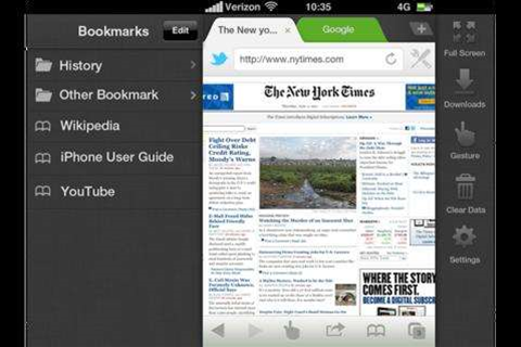 Dolphin Browser brings tabbed browsing to iOS complete with gestures