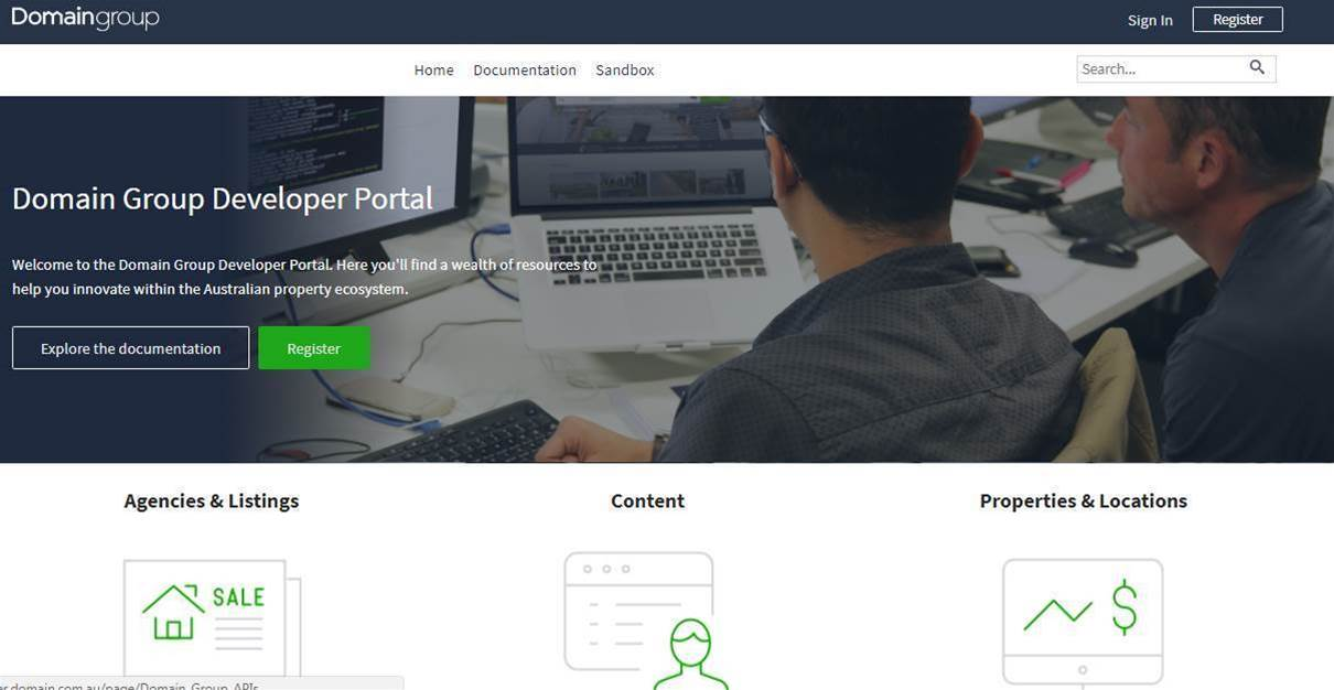 Domain opens up property data for devs to play with