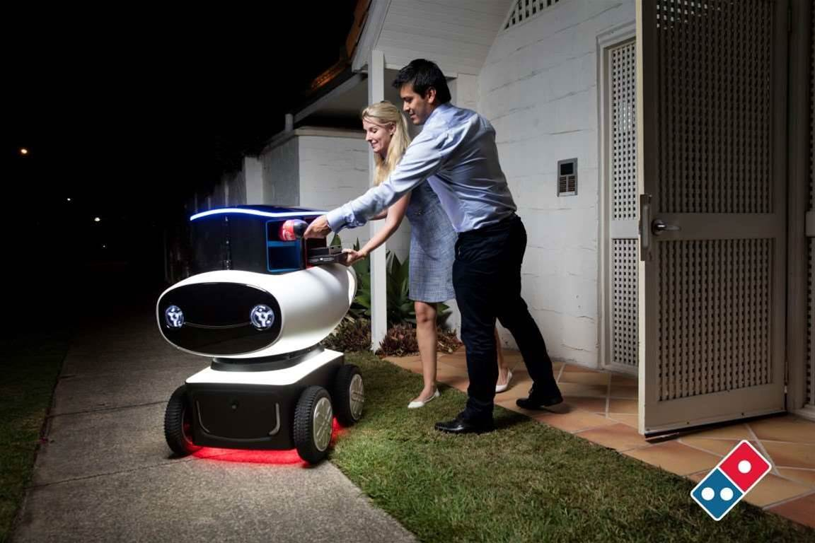 Domino's unveils pizza delivery robot