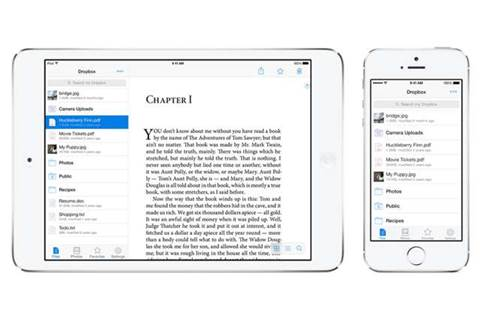 There's a new version of Dropbox for iPad and iPhone