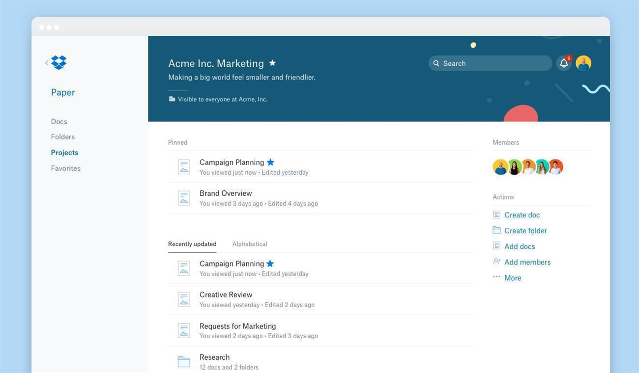 Dropbox adds collaboration and smart syncing tools
