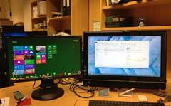 "Handy Windows 8 tip: you can run the ""classic"" desktop on a second screen"