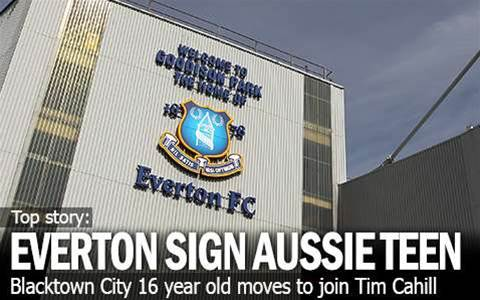 Aussie Teen Jake Signs Everton Deal
