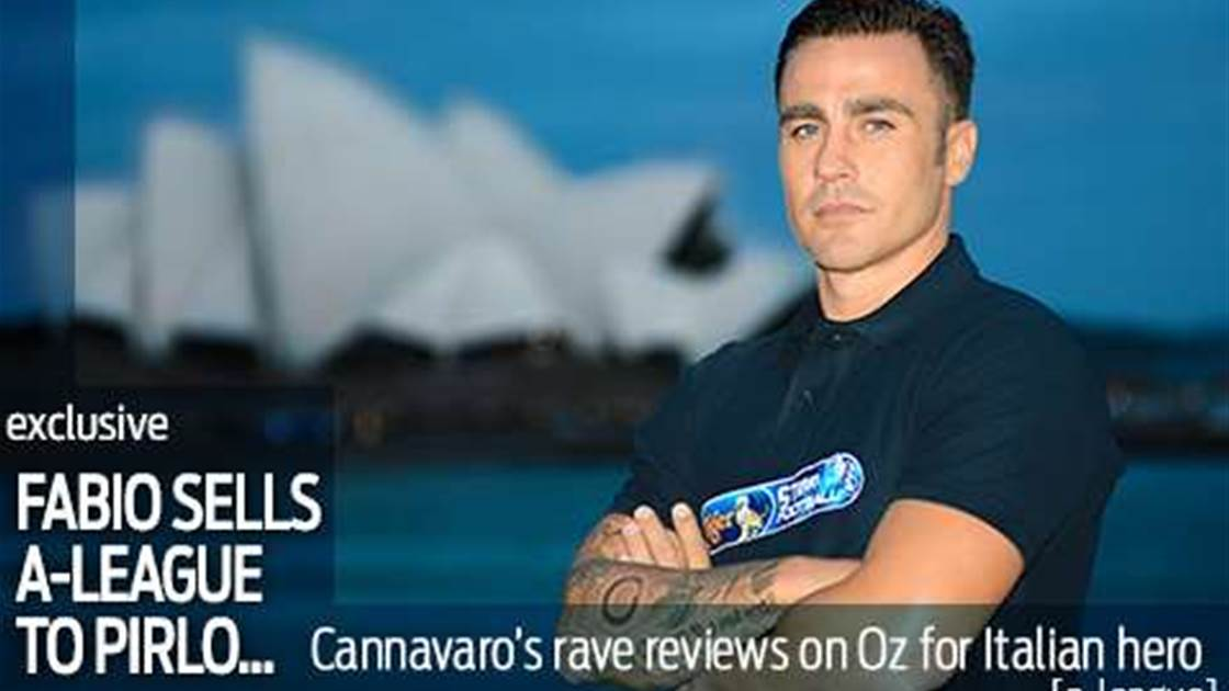 Cannavaro selling the A-League to Pirlo...