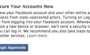Facebook warns users of state-sponsored attacks