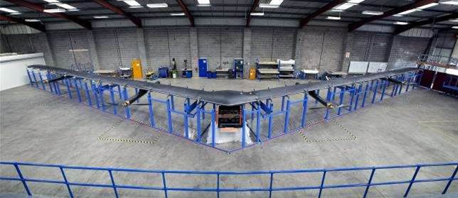 Facebook finishes 42 metre internet delivery drone