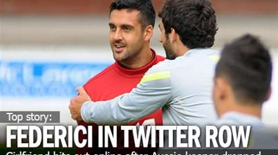 Federici's Girlfriend Sparks Twitter Drama
