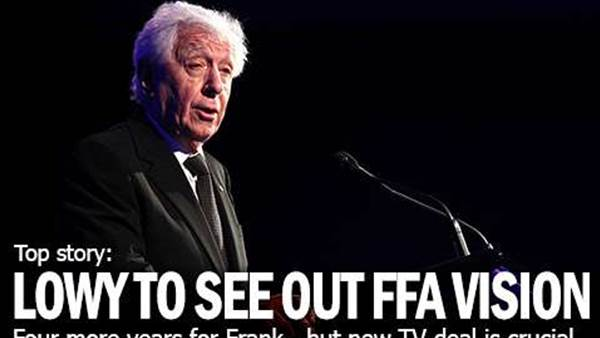 Lowy To See Out Four Year FFA Vision