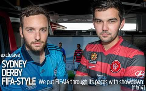 We stage FIFA14's first Sydney derby