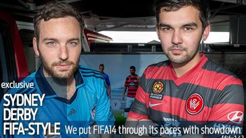 We stage FIFA14's first Sydney derby