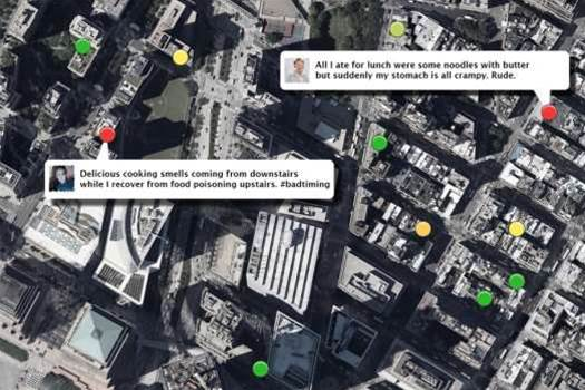 Tracker Maps Reports Of Food Poisoning On Twitter