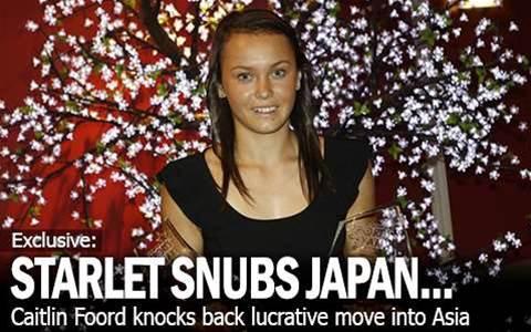 Caitlin Knocks Back Japanese Offer