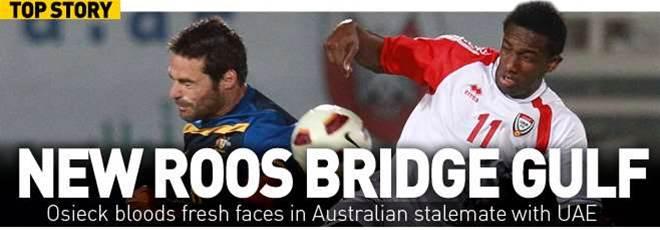 Socceroos Held By UAE