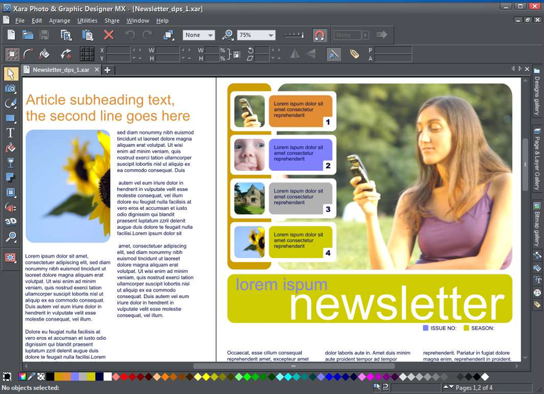 Xara release Photo and Graphic Designer MX 8 and Designer Pro X 8