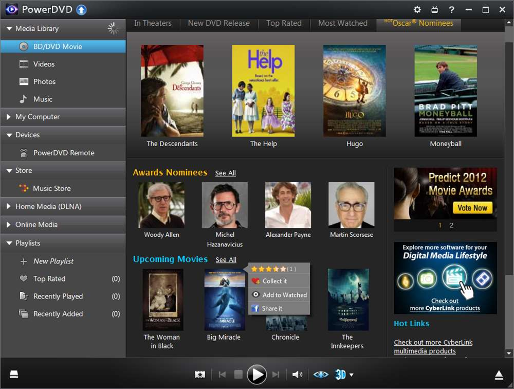 CyberLink PowerDVD 12 debuts new format support, enhanced iOS/ Android apps, social media support, integrated music store