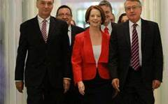 Gillard launches cyber security hub