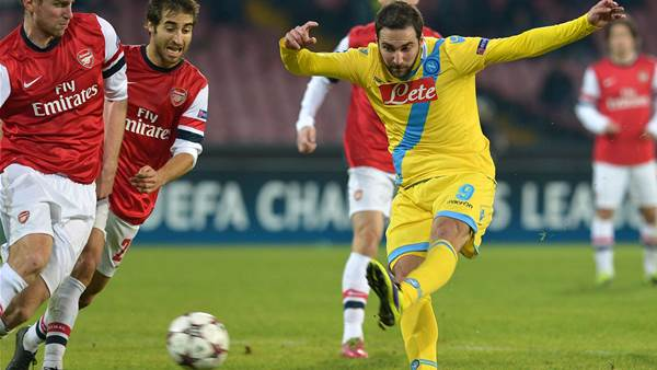 Arsenal lose but Wenger feels for eliminated Napoli