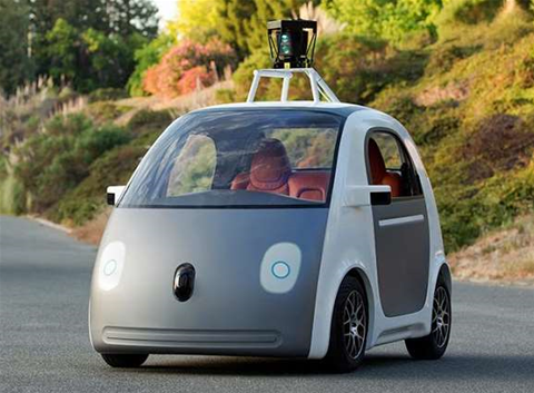 Google shows off prototype self-driving car