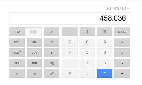Google has a handy calculator hidden under your nose
