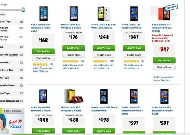 Harvey Norman offering 20% cashback on Nokia Windows phones, Office today