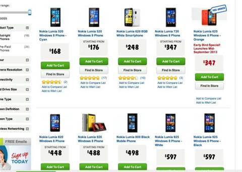 Harvey Norman offering 20% cashback on Nokia Windows phones, Office today