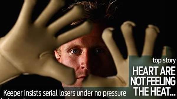'No pressure' insists Heart keeper