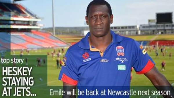 Emile Heskey staying at Newcastle Jets