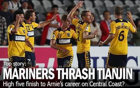 Mariners Thrash Tianjin Teda