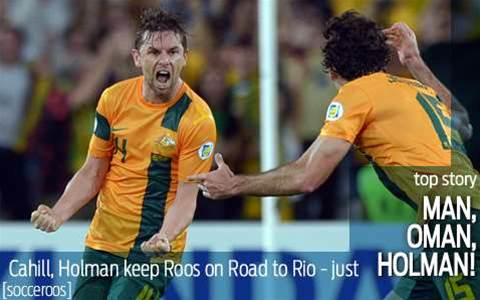 Holman, Cahill save the day for Socceroos