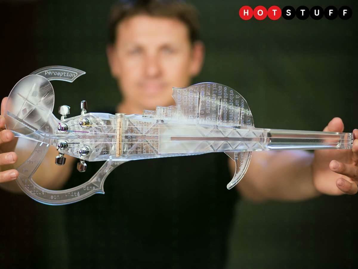 Meet 3Dvarius, the electric violin that looks like a glitch in the Matrix