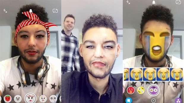 How to: Use the new Snapchat faces and lenses