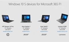 Low-cost Windows 10 S laptops for business announced