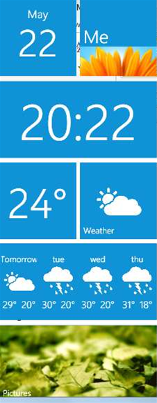 View the date, time and weather on your desktop with the stylish Metro Home widget