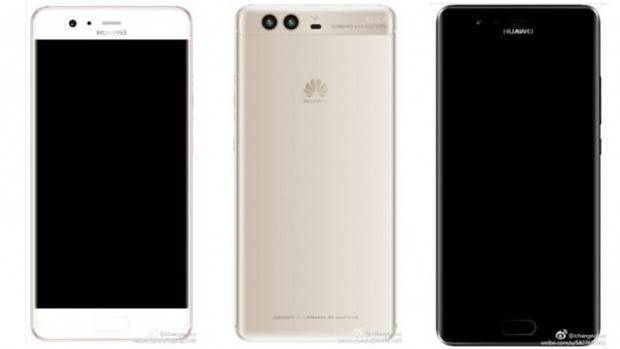 Huawei P10: Renders show a front fingerprint scanner
