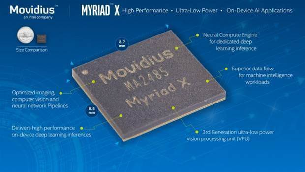 Intel unveils tiny Myriad X AI chip to run deep neural networks at high speed and low power