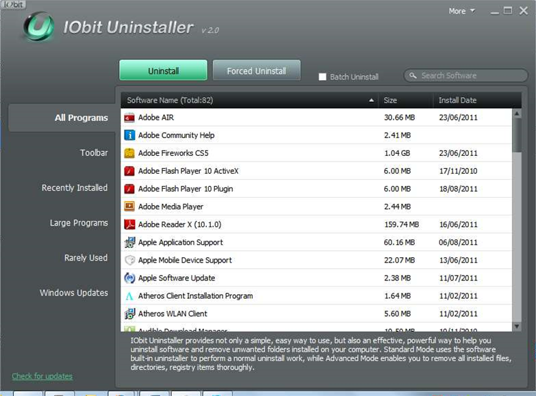 IObit Uninstaller 2.0 pressure washes your hard drive to remove unwanted software
