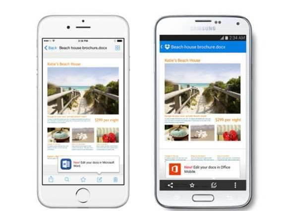 Dropbox adds Office integration to its mobile apps