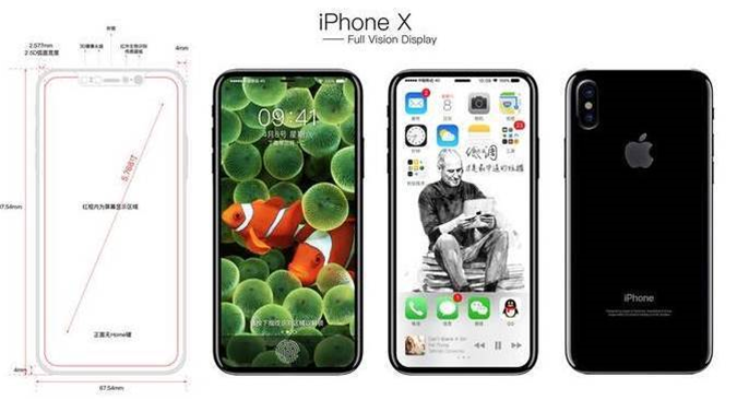 Leaked pictures show full-front display for the iPhone 8