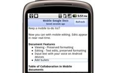 Mobile Google Docs plays catch-up with Office
