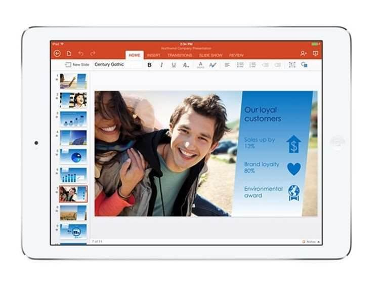 Office for iPad gets printing support