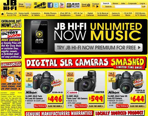 JB HiFi rises up from tough tech market